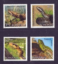 Reptiles set of 4 mnh stamps 2011 Romania #5224-7 Snakes Lizard