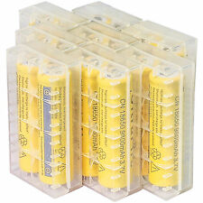16pcs 18650 3.7V 9800mAh Yellow Li-ion Rechargeable Battery + Storage Box Cover