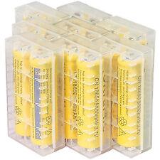16pcs 18650 3.7V 9800mAh Yellow Li-ion Rechargeable Battery + Storage Box Cover