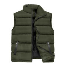 Men Puffer Waistcoat Camouflage Gilet Quilted Padded Sleeveless Outwear Winter