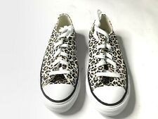 CONVERSE Girls sneakers 3 y Youth All Star Animal Print Shoes Brown