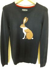 Joules intarsia Hare Navy cotton jumper Size 6
