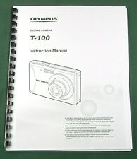 Olympus T-100 Instruction Manual: 61 Pages with Protective Covers!