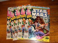 Star Wars Marvel Comics: #7, 7, 7, 7, 7. 5 nice copies! vf- to vf+