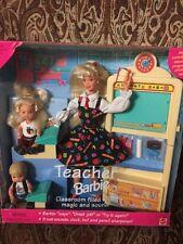 Barbie Teacher Barbie Doll Set Blonde Boy & Girl #13914 1995 NIB Pristine