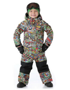 Burton MARVEL Mini Shred Striker Boys Dryride One Piece Snowsuit Size 5/6
