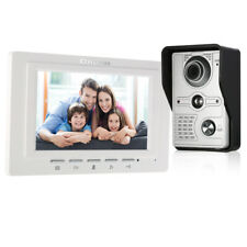 "7"" Wired Home Video Intercom Door phone System W/ IR Camera Video Doorbell T9Q6"