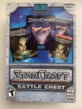 Factory Sealed! 1998 StarCraft + Brood War Battle Chest Blizzard PC US Paper Box