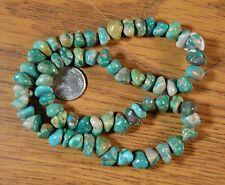 "~15.5"" strand~  Genuine FOX MINE Nevada Boulder Turquoise Nugget Beads"