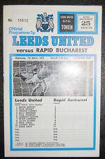 Leeds United V RAPID BUCAREST 1972/73 COPPA DEL MONDO COPPA VINCITORI