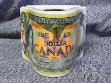 RARE Vintage ONE DOLLAR CANADIAN ASHTRAY 1979  $1 CANADA CANADIEN PORCELAIN
