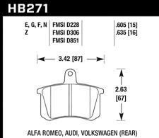 Hawk Disc Brake Pad Rear for Audi A4 / A6 / A8 / Quattro / 90 # HB271F.635