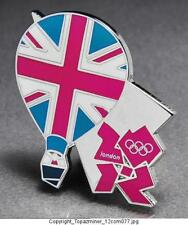 OLYMPIC PINS BADGE 2012 LONDON ENGLAND UK PATRIOTIC UNION JACK HOT AIR BALLOON