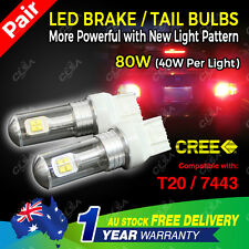2PCS CREE LED T20 7443 9-32V 80W Car Brake Reverse Stop Turn Signal Bulb Light