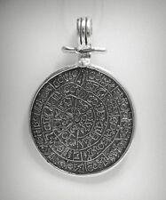 pendente argento sterling MASSICCIO 925 CERCHIO INDIANO SIMBOLI pe000846