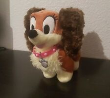 Disney Store FIFI Minnie Mouse Puppy Cocker Spaniel Dog Plush Pink Collar Toy 6""