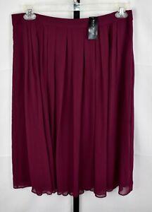 White House Black Market Burgundy Skirt Size 14 NWT