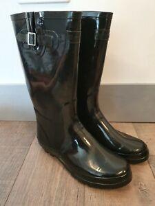 WYRE VALLEY Wellington Boots-Black Size UK8
