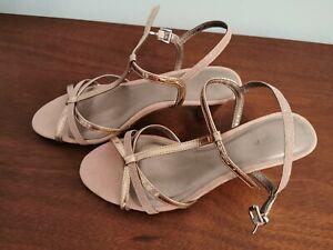 Tamaris Rose gold sandals size 5