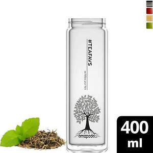 amapodo Teeflasche Ersatzglas einzeln 400ml (Design Tea Tree)