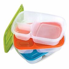 Perfect Life Ideas Bento Lunch Boxes Nesting Multicompartment 3 Pieces Set NEW