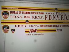 Big City Fire Department New York Training Vehicle Decals  18 scale