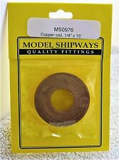 "Model Shipways Fittings MS 0976 Adhesive Copper Coil 1/4"" (6MM).15 Roll Per Pack"