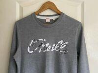 Mens O'Neill Grey Californian Branded Long Sleeve T-shirt Sweatshirt Medium Slim