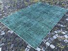 Overdyed, Turkish rug, Vintage rug, Handmade rug, Large, Wool   6,3 x 8,9 ft