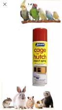 Johnson's Cage & Hutch Spray 250ml, for Small Animals & Birds Kills Mites, fleas