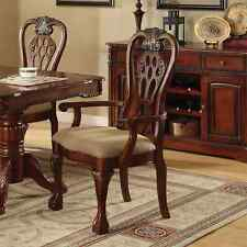 "Furniture of America Harper Cherry Arm Chair (Set of 2) Cherry 27""w x 26""d x 42"""