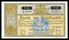 More details for £5 z last large bank of scotland bilsland/watson 1959  aef ba105b scarce z 9406