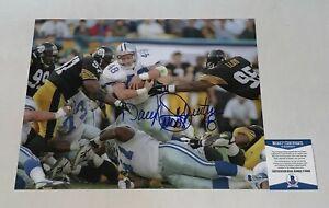 Daryl Johnston signed Dallas Cowboys 11x14 photo autographed Moose BAS Beckett