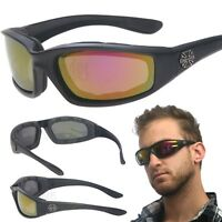 263f948ae2 Red Chopper Padded Wind Resistant Sunglasses Motorcycle Riding Biking  Glasses