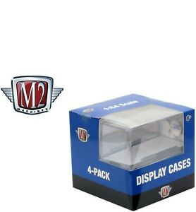 M2 Machines Acrylic Display Case For 1:64 Scale Model Cars 4-Pack NEW Showcase