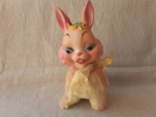 Vintage MY TOY Knickerbocker Rushton Style Rubber Face Stuffed Bunny Rabbit