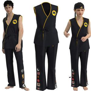 Kid's Cobra Kai: the Karate Saga Halloween Cosplay Costumes Taekwondo Party Set