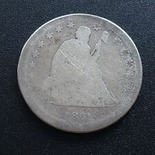 USA 1861 Seated Liberty Quarter Philadelphia 25 Cent Silber Selten 2030