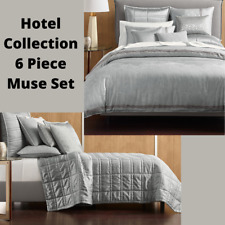 NEW $1280 6PC Hotel Collection Muse Queen Set {Duvet, Coverlet, 2 Sham 2 Euro}