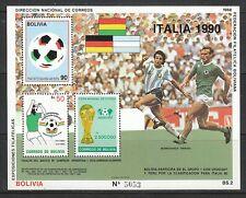 469) Fußball: Bolivien, seltener Block Block 177! 2 Scans!