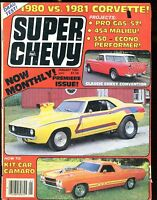 Super Chevy Magazine January 1981 Camaro VG No ML 022817nonjhe