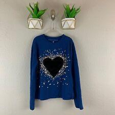 Rockets Of Awesome Shirt Girls Size 8 Velvet Heart Sequins