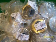 LOT OF 2 Wall Bumper- Bright Brass door knob wall bumper (RUBBER)