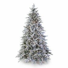 Hayneedle 7.5' Pre-lit Natural Flocked Vermont Spruce Artificial Christmas Tree