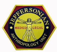 BONES - Jeffersonian Großer Jacken Patch Aufnäher - Anthropology Unit 25cm