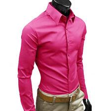 Men Stylish Shirts Casual Formal Slim Fit Long Sleeve Luxury Tee Shirt Top Dress