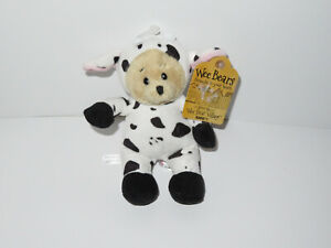 Ganz Wee Bears Cow H13381 Plush Teddy Bear Stuffed Animal Toy Costume Outfit 7""