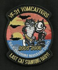 NAVY USS THEODORE ROOSEVELT CVN-71 VF-31 TOMCATTERS CAT STANDING MILITARY PATCH