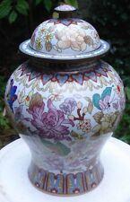-Potiche Vase Chinois en Bronze à décor d'émaux Cloisonnés