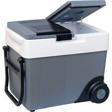Electric Rolling 33 Qt. 12V Travel Cooler,  Compact Portable Refrigerator & Heat